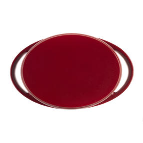 Lodge 1407003 Large Oval Cast Iron Casserole Dish with Lid, 4.7 L, 29 cm, Red Thumbnail 4