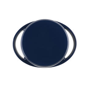Lodge 1407002 Large Round Cast Iron Casserole Dish with Lid, 4 L, 24 cm, Blue Thumbnail 4