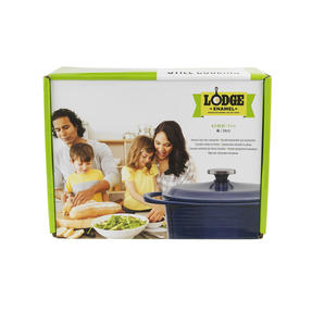 Lodge 1407002 Large Round Cast Iron Casserole Dish with Lid, 4 L, 24 cm, Blue Thumbnail 9
