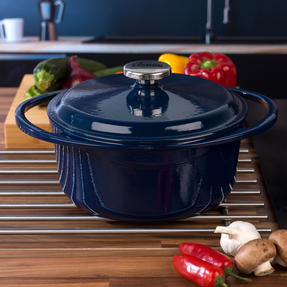 Lodge COMBO-4363 Round Cast Iron Casserole with Enamel Finish, 24 cm/4 L, Set of 2 Thumbnail 6