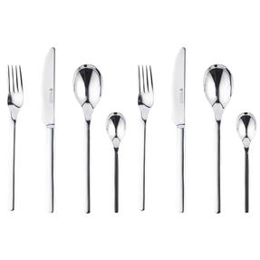 Bellevue COMBO-4513 Polished Cutlery Set with Mirror Polished Finish, Stainless Steel, 8 Piece