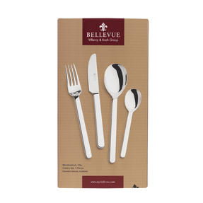 Bellevue COMBO-4515 Polished Cutlery Set with Mirror Polished Finish, Stainless Steel, 24 Piece Thumbnail 2