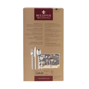 Bellevue COMBO-4515 Polished Cutlery Set with Mirror Polished Finish, Stainless Steel, 24 Piece Thumbnail 8