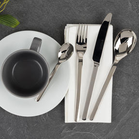 Bellevue COMBO-4515 Polished Cutlery Set with Mirror Polished Finish, Stainless Steel, 24 Piece Thumbnail 4