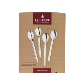 Bellevue COMBO-4518 Eight-Piece Latte Spoon Set, Stainless Steel Thumbnail 6
