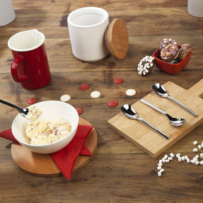 Bellevue COMBO-4520 Eight-Piece Ice Cream Spoon Set, 142 mm, Stainless Steel Thumbnail 2
