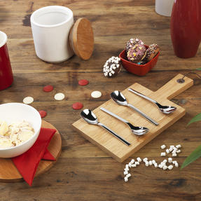 Bellevue COMBO-4520 Eight-Piece Ice Cream Spoon Set, 142 mm, Stainless Steel Thumbnail 3