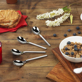 Bellevue COMBO-4525 Eight-Piece Cereal Spoon Set, 161 mm, Stainless Steel Thumbnail 4
