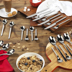 Bellevue COMBO-4529 Dining Cutlery Set with Latte Spoons, Ice Cream Spoons, Cereal Spoons and Salad Cutlery, 30 Piece Set Thumbnail 2