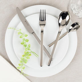 Bellevue COMBO-4529 Dining Cutlery Set with Latte Spoons, Ice Cream Spoons, Cereal Spoons and Salad Cutlery, 30 Piece Set Thumbnail 4