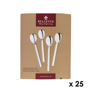Bellevue COMBO-4532 100 Piece Latte Spoon Set, Stainless Steel ? Ideal For Commercial Use Thumbnail 1
