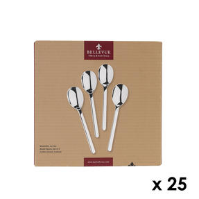 Bellevue COMBO-4534 100 Piece Cereal Spoon Set, 161 mm, Stainless Steel ? Ideal For Commercial Use Thumbnail 1