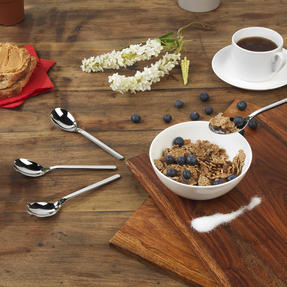 Bellevue COMBO-4534 100 Piece Cereal Spoon Set, 161 mm, Stainless Steel ? Ideal For Commercial Use Thumbnail 4