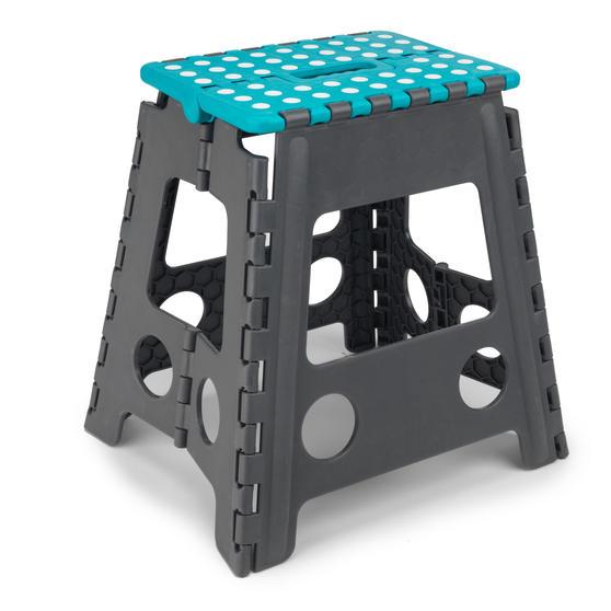 Beldray DIY Hobby Foldable Step Stool, Large, Plastic, Turquoise