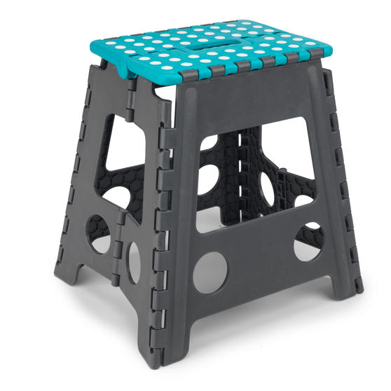 Beldray DIY Hobby Foldable Step Stool, Large, Plastic, Turquoise