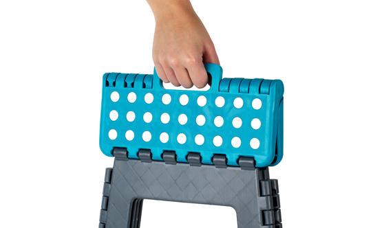 Beldray DIY Hobby Foldable Step Stool, Large, Plastic, Turquoise Thumbnail 2