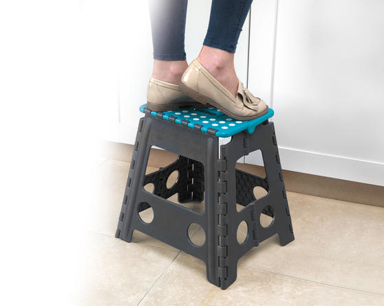 Beldray DIY Hobby Foldable Step Stool, Large, Plastic, Turquoise Thumbnail 4