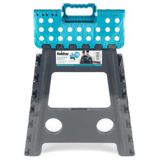 Beldray DIY Hobby Foldable Step Stool, Large, Plastic, Turquoise Thumbnail 5