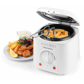 Progress Compact Deep Fat Fryer With Removable Cooking Basket, 1 L, 950 W