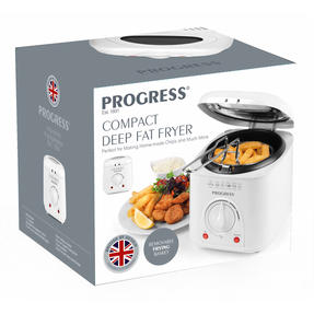 Progress EK2969P Compact Deep Fat Fryer With Removable Cooking Basket, 1 L, 950 W Thumbnail 5