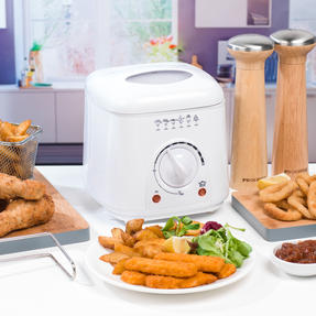 Progress EK2969P Compact Deep Fat Fryer With Removable Cooking Basket, 1 L, 950 W Thumbnail 6