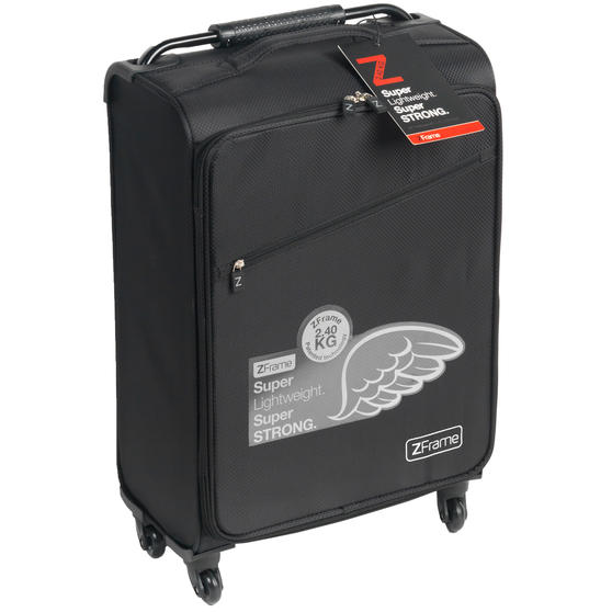 Zframe SH222837BLK22SAMIL Super Lightweight Suitcase, 22?, 10 Year Warranty, Black
