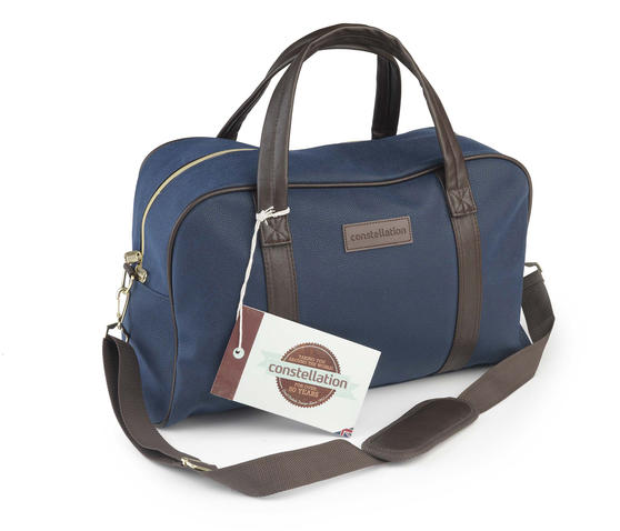 Constellation LG00425BLUASMIL Esquire Carry Holdall, Suedette, Blue