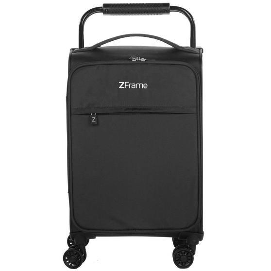 """ZFrame 18"""" Small 4 Double Wheel Super Lightweight Cabin Suitcase, 1.98 kg, 30 Litre, Black, 10 Year Warranty"""