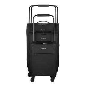 "ZFrame 18"" Small 4 Double Wheel Super Lightweight Cabin Suitcase, 1.98 kg, 30 Litre, Black, 10 Year Warranty Thumbnail 7"