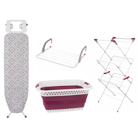 Airer, Diamond Print Board, Laundry Basket & Radiator Airer Set