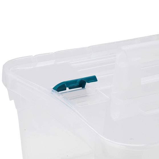 Beldray DIY, Hobby, Cleaning Caddy with Lid, Small, Clear, Set Of 2 Thumbnail 4