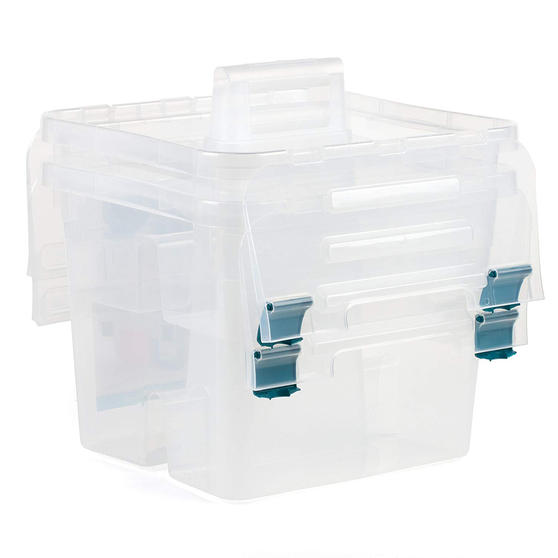 Beldray DIY, Hobby, Cleaning Caddy with Lid, Small, Clear, Set Of 4 Thumbnail 2