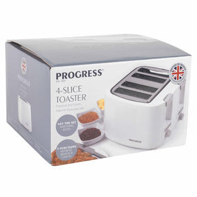 Progress EK3394P Four Slice Toaster with Variable Browning Control, 1500 W, White Thumbnail 12