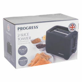 Progress EK3393BLKP Two-Slice Toaster With Slide-Out Crumb Tray, 750 W, Black Thumbnail 11
