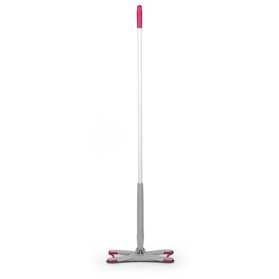 Grey/Pink Extendable X-Shape Self-Wringing Twist Mop