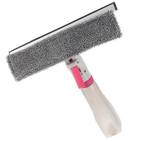 White/Pink Spray Window Cleaning Wiper