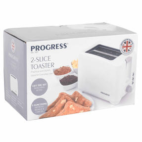 Progress EK3393P Two Slice Toaster with Slide-Out Crumb Tray, 750 W, White Thumbnail 12