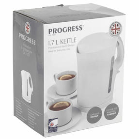 Progress EK3437P 1.7 L Plastic Kettle with Soft Grip Handle, 2200 W, White Thumbnail 11