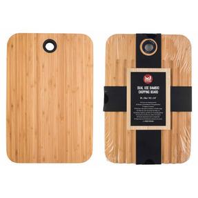 Sambonet COMBO-4551 Bamboo Dual-Use Chopping Board with Hanging Hook, 36 cm x 24 cm, Set of 2
