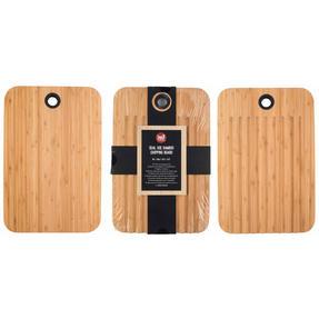 Sambonet COMBO-4552 Bamboo Dual-Use Chopping Board with Hanging Hook, 36 cm x 24 cm, Set of 3