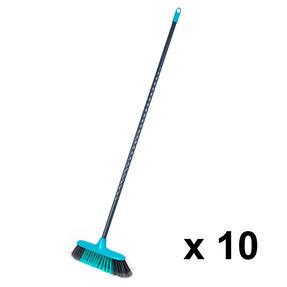Beldray COMBO-4627 Sweepmax Cleaning Floor Brush Broom, Set of 10