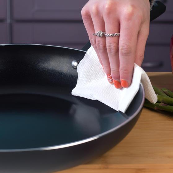 Beldray Non-Stick Ceramic Saucepan and Frying Pan Set, 6 Piece, Black Thumbnail 8