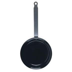 Jamie Oliver 552837 Get Inspired Heat Resistant Carbon Steel BBQ Frying Pan, 24 cm, Black Thumbnail 2