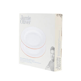 Jamie Oliver 552799 Get Inspired Set of 2 Terracotta Dinner Plates, 28 cm, White, Dishwasher Safe Thumbnail 8