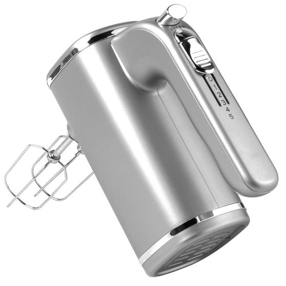Salter EK3103TITANIUM Metallics Five Speed Hand Mixer, 250 W, Titanium