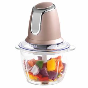 Salter Metallics Glass Chopper, 500 W, Champagne