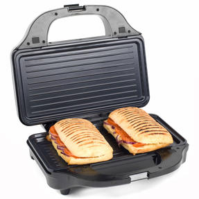 Salter XL 4-in-1 Snack Maker with Waffle, Panini, Toastie And Omelette Plates, 900 W  Thumbnail 4