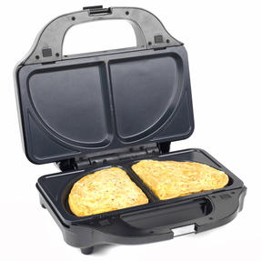 Salter XL 4-in-1 Snack Maker with Waffle, Panini, Toastie And Omelette Plates, 900 W  Thumbnail 6