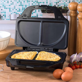 Salter XL 4-in-1 Snack Maker with Waffle, Panini, Toastie And Omelette Plates, 900 W  Thumbnail 8