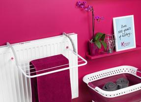 Kleeneze KL062376PUREU Space Saving Collapsible Laundry Basket, 60 L, Purple/White Thumbnail 6